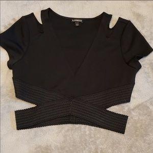 Black express Crop top